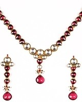 Luxury Kundan Delicate Necklace NERK10983C Indian Jewellery