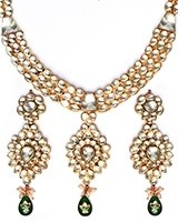 Luxury Green Kundan Necklace NEGK10986 Indian Jewellery