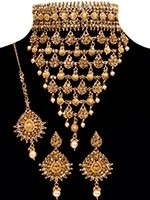 Large LCT Crystal Jaali Choker Set BENC11046 Indian Jewellery
