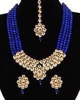 Beaded Kundan Mala Jewellery Set NELA11058 Indian Jewellery