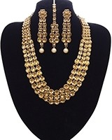 LCT Kundan 3-layer Haar Set NANK11143 Indian Jewellery