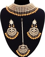 Large Kundan Choker Jewellery Set NEWK11156C Indian Jewellery
