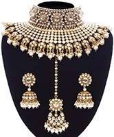 Pearl Sabyasachi Inspired Bridal Jewellery Set NEWK11160 Indian Jewellery