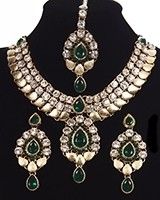 Cleopatra Inspired Collar Necklace Set NAWC11164C Indian Jewellery