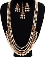 Queenly Pearl Maala Indian Jewellery Set NENA11192 Indian Jewellery