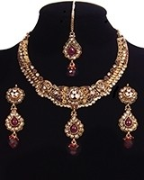 Intricate Detail CZ Diamond Marron Indian Jewellery NEWA11194 Indian Jewellery