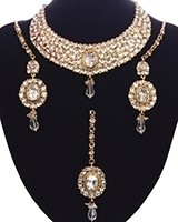 Striking Mughal Kundan Necklace Set NAWK11214 Indian Jewellery