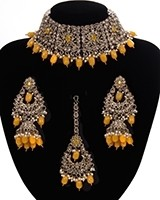 Mughal Antique American Diamond Choker Set NAYA11269 Indian Jewellery