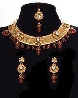Elegant Mesh 22k Plated Collar Necklace Set NERK11322C Indian Jewellery