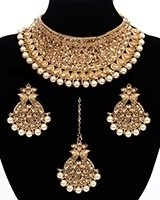 Royal Golden Choker Set NENL11451 Indian Jewellery
