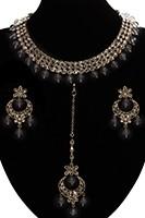 Elegant Antique American Diamond Indian Jewellery Set - Grey NAEA11534 Indian Jewellery