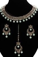 Elegant Antique American Diamond Indian Jewellery Set NANA11539C Indian Jewellery