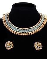 Traditional Indian Collar Necklace & Stud Earrings NENP11654C Indian Jewellery