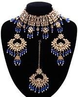 Wide Asian Indian Choker Set NANK11663C Indian Jewellery