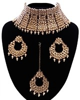 Regal Antique Full Neck Indian Bridal Choker NANK11667 Indian Jewellery