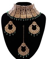 Regal Antique Full Neck Indian Bridal Choker NANK11668C Indian Jewellery