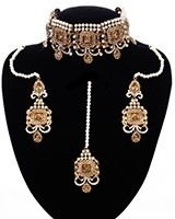 Antique Traditional Pakistani Pearl Choker Set NANC11679 Indian Jewellery