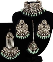 Jahanara - Regal Indian Kundan & Pearl Bridal Jewellery NAGK11700 Indian Jewellery