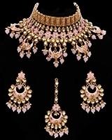 Statement 22k Meenakari Indian Wedding Jewellery NEGK11720C Indian Jewellery