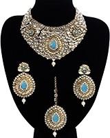 Statement Pastel Collar Necklace Set NGPK11733C Indian Jewellery