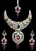 Traditional Peacock Kundan Necklace Set NGMK11740 Indian Jewellery