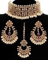 South Indian Wide Choker Jewellery Set NARA11771 Indian Jewellery