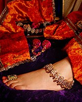 Kundan Payal (Indian Anklet) YGRK04481 Indian Jewellery
