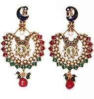 Large Peacock Earrings EAAP03824 Indian Jewellery