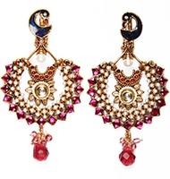 Large Peacock Earrings EAPP03818 Indian Jewellery
