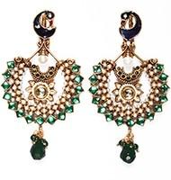 Large Peacock Earrings EAGP03820 Indian Jewellery