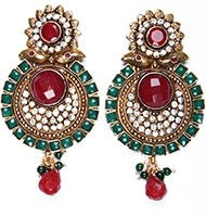 Large Round Earrings EAAP03825 Indian Jewellery