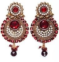 Large Round Earrings EARP03828 Indian Jewellery