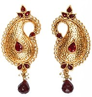 Large Paisley Studs EARP03877 Indian Jewellery