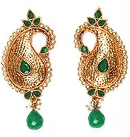 Large Paisley Studs EAGP03885 Indian Jewellery