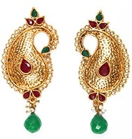 Large Paisley Studs EAAP03883 Indian Jewellery