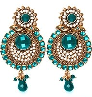 Large Round Earrings EALP04150 Indian Jewellery
