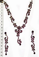 ALICIA crystal necklace set NSUC0831 Indian Jewellery