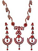 SHARON crystal necklace set NARC10526C Indian Jewellery