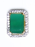 Emerald Cut Classic Smaller Ring RGGA10327 Indian Jewellery
