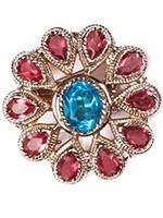 Medium silver flower ring ASPA10924 Indian Jewellery