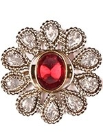 Large silver flower ring ASPA10926 Indian Jewellery