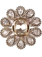Large silver flower ring ASWA10927 Indian Jewellery