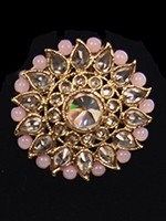 Indian Antique Cocktail Ring - American Diamond & Baby Pink RAPA11822 Indian Jewellery