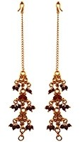 Dark Maroon Beaded Sahara Chains EERK11017 Indian Jewellery