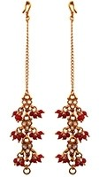 Bright Red Beaded Sahara Chains EERA11018 Indian Jewellery