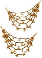Heavy looking, Multiple Chain Web Indian Saharas for Earrings EEWL11031 Indian Jewellery