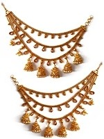 Traditional 3-Line Jhumki Saharas for Indian Earrings EEWL11032 Indian Jewellery
