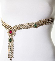 Aleena Kundan Saree Belt LAWK0605C Indian Jewellery