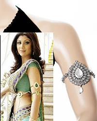 Silver Shilpa Shetty Bajuband VSPA02391C Indian Jewellery