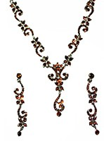 ALICIA crystal necklace set NSNC0827 Indian Jewellery